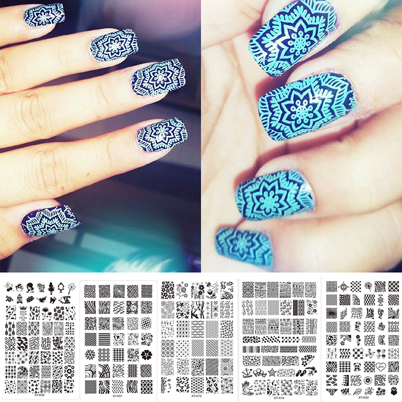 New Arrival Metal Nail Art Stamping Stencils For Nail Art