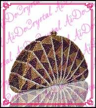 Aidocrystal Glänzende gold kristall halbkreis form damen kupplung geldbeutel für partei