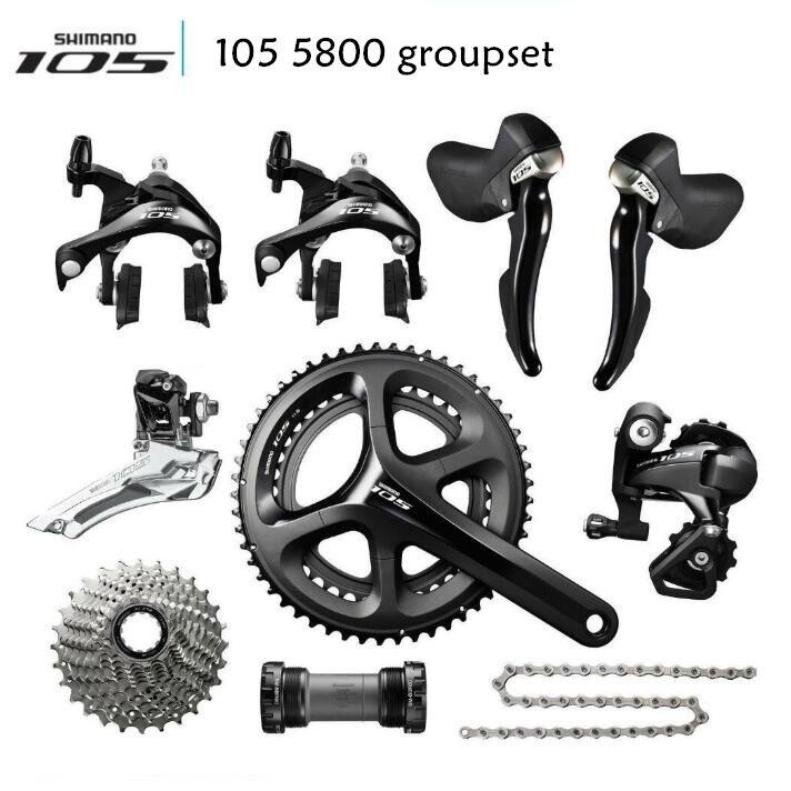 Shimano 105 5800 Grupo 2x11 S 22 S velocidad 50-34 T 52-36 T 53 -39 T 170mm 172,5mm 175mm Kit para bicicleta de carretera