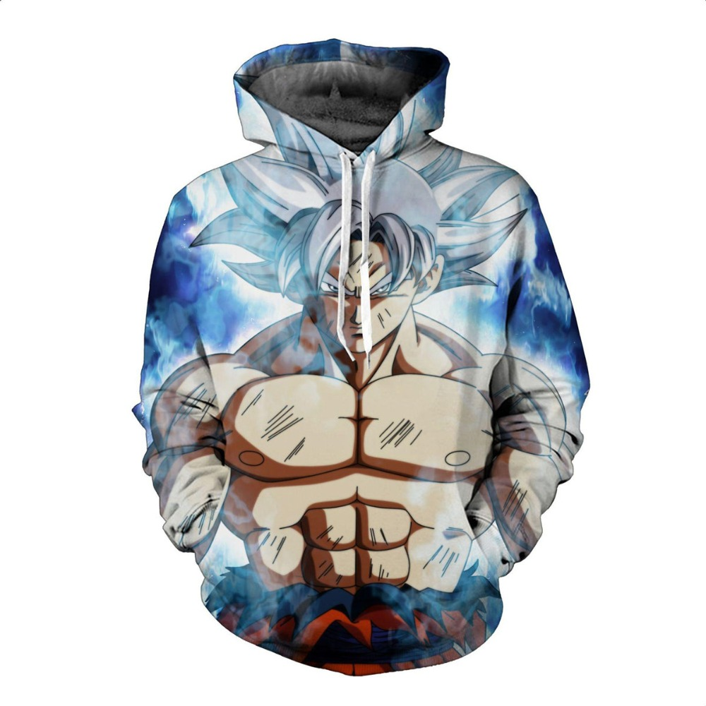 2019 DRAGON BALL Cosplay Hoodie Spring Fashion Goku Anime Print Jacket Coat Tops