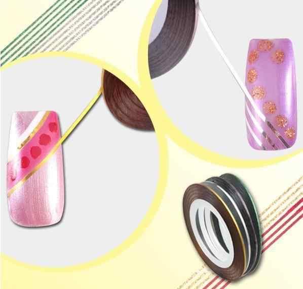 30 สี Rolls Striping Tape Line สติกเกอร์เล็บสติกเกอร์เครื่องมือตกแต่งความงามสำหรับสติ๊กเกอร์เล็บ