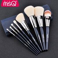 MSQ 8 шт./компл. голубые кисти для макияжа Набор Профессиональный набор кисти для основы Инструмент косметические инструменты pincel maquiagem