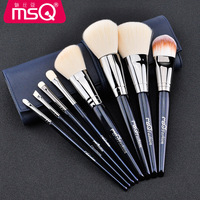 MSQ 8Pcs/set Blue Makeup Brushes Set Kit Professional Foundation Brush Tool Beauty Cosmetic Tools pincel maquiagem