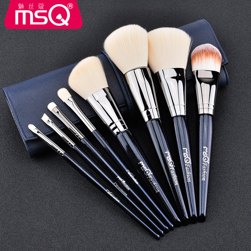 MSQ 8Pcs/set Blue Makeup Brushes Set Kit Professional Foundation Brush Tool Beauty Cosmetic Tools pincel maquiagem 10 pcs makeup brush beauty cosmetic foundation blend tools cream puff makeup brush foundation brushes pincel maquiagem