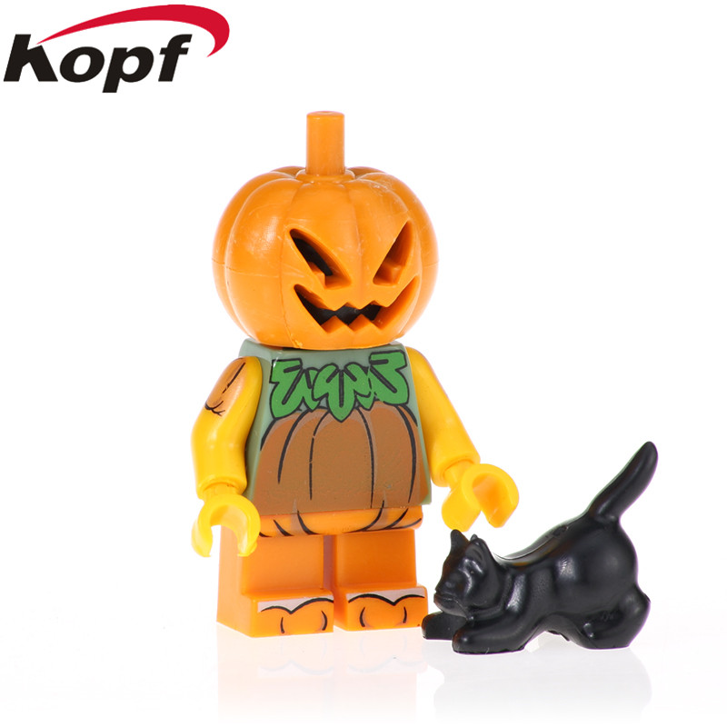 20pcs Figures Vampire Halloween Zombie Model Pumpkin Bricks Wedding Ghost Building Blocks For Children Toys Best Gift Pg1431 Blocks