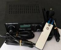 プロデジタルデュアルブラックタトゥーマシン電源キットw/2クリップパッチコード& 1ピースミニ鋼の入れ墨フットペ
