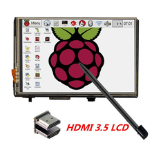 Buy online Raspberry Pi 3.5 inch HDMI TFT LCD Touchscreen 480*320 720*480 810*540 Resolution Resistive Display for Raspberry Pi 3 Model B