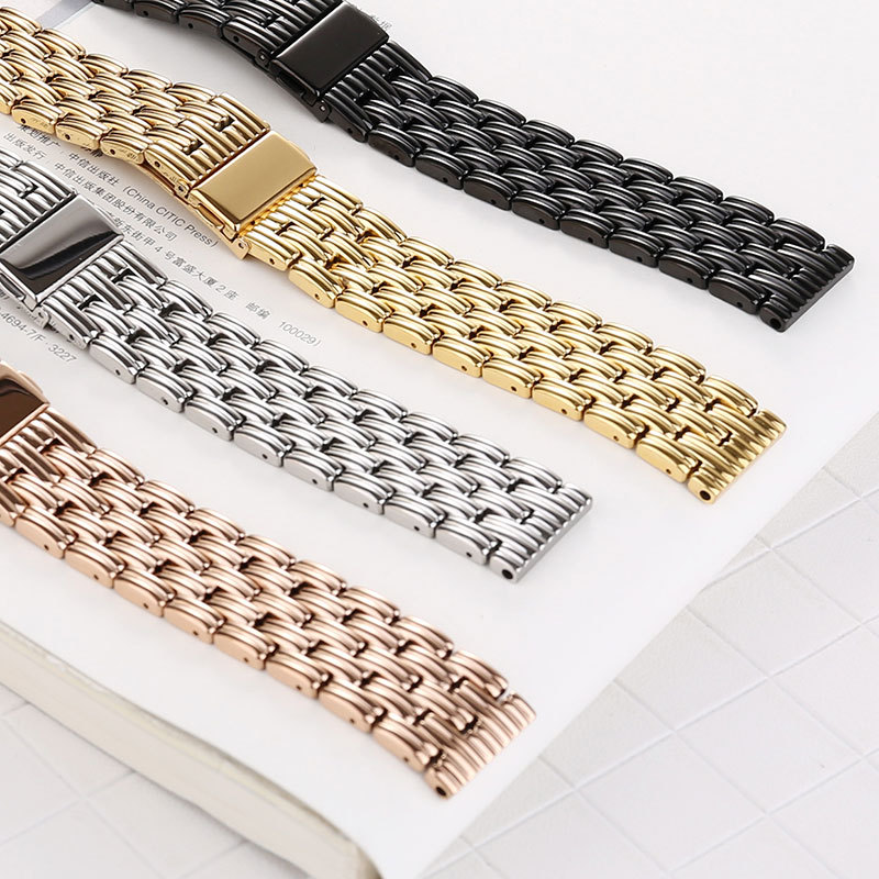 Stainless Steel Watchband For Samsung Galaxy Watch 20mm 22mm 42mm 46mm Diamond Replacement Band Wrist Strap Bracelet Wristband