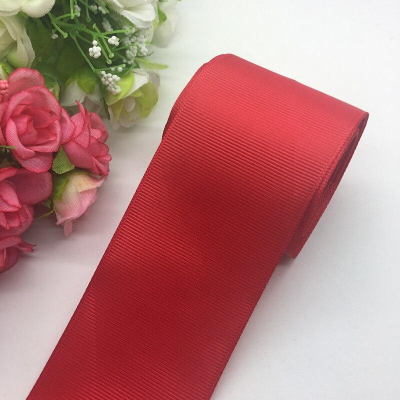 3 ярдов/партия 2 дюймов 50 мм Широкий Красный корсажная лента банты на голову Свадебные DIY ремесла