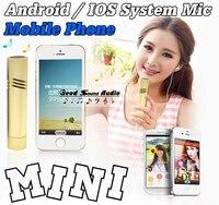 Mini Wired Mobile Phone Microfono A Condensatore Mic Android/IOS Sistema Per Il Telefono Cellulare Tablet Smartphone Computer Registrazione di Musica