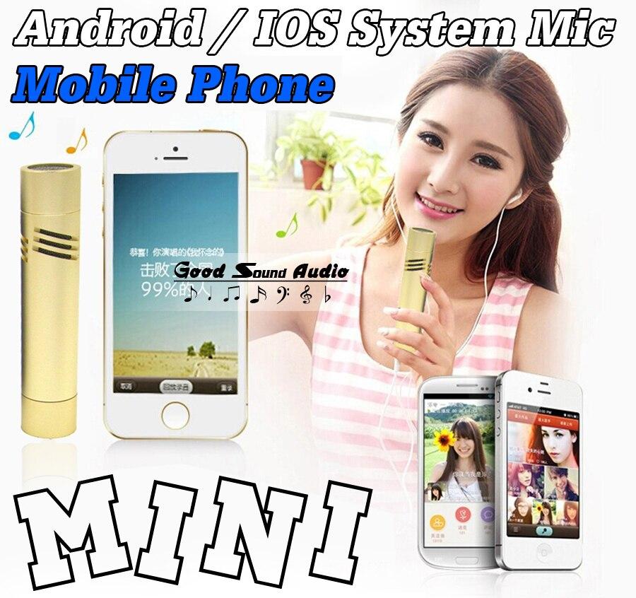 Mini Bedrade Mobiele Telefoon Microfoon Condensator Microfoon Android/IOS Systeem Voor Mobiele Telefoon Tablet Computer Smartphone Opname Muziek
