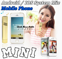 Mini Wired Mobile Phone Microphone Condenser Mic Android / IOS System For Cell Phone Tablet Computer Smartphone Recording Music
