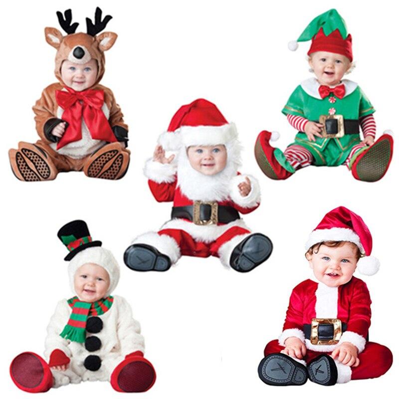 Детский комбинезон для новорожденных, костюм снеговика, эльфа, деда мороза, Детский комбинезон для мальчиков и девочек, костюм на Хэллоуин,