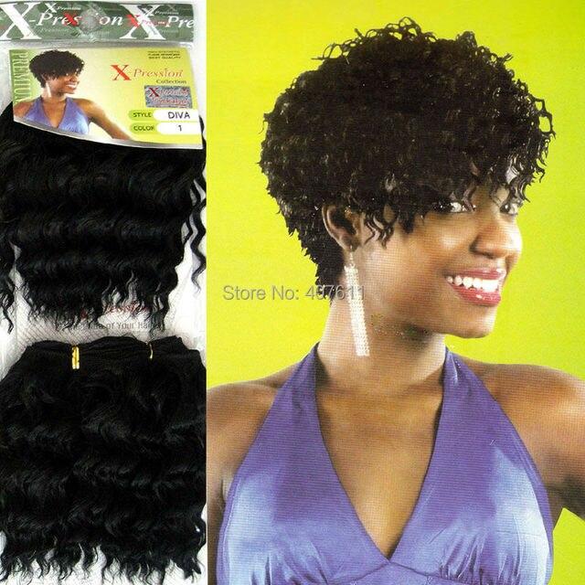 Xpression Braid Hair Weaving Deep Curly Hair Extension Diva Style