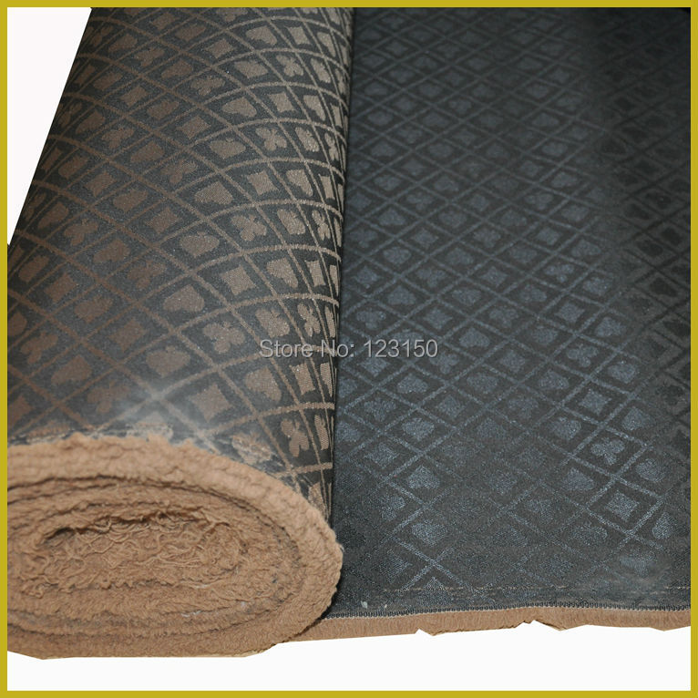 New Design 2014, Black And Golden Waterproof Suited High Speed Cloth For Poker Table , Width 1.5M