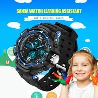 2016 New SANDA Watch Brand 5 Color Change LED Light Date Alarm Round Dial Digital Wrist