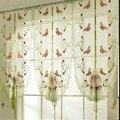 1 шт. Роскошная бабочка вышитая римская штора Штора для гостиной спальни кухни Тюль отвесные оконные панели воздушные шары шторы
