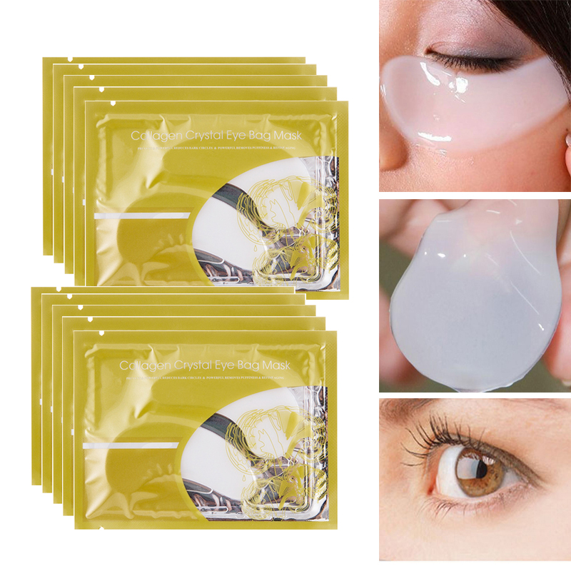 PUTIMI Eye Patches Under the Pad Collagen Crystal Mask Anti Wrinkle Remove Dark Circles Fine Lines 8pair=16pcs