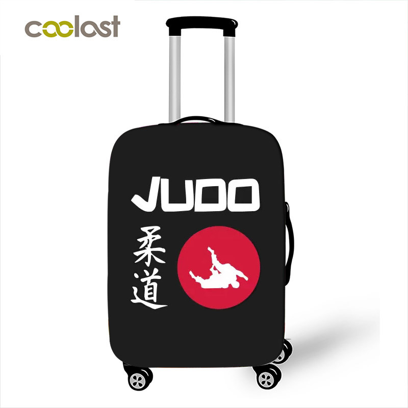 Cool Martial Art Judo / Jiu Jitsu / Karate / Aikido Luggage Cover Elastic Dust Suitcase Covers Apply To 18- 32 Inch Trolley Case