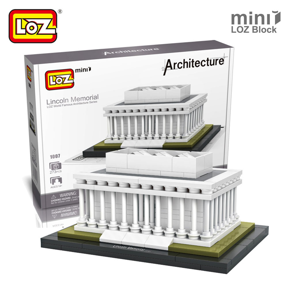 LOZ Lincoln Memorial Mini Block World Famous Architecture Series Building Blocks Classic Toys Model Gift Museum Model Mr.froger loz architecture famous architecture building block toys diamond blocks diy building mini micro blocks tower house brick street