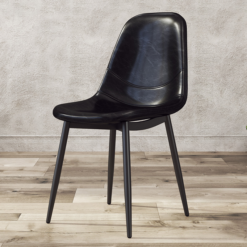 Astonishing Us 202 17 24 Off Nordic Dining Chair Modern Simple Home Backrest Desk Chair Coffee Shop Lounge Chair European Leather Restaurant In Dining Chairs Bralicious Painted Fabric Chair Ideas Braliciousco