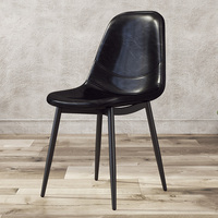 Nordic Dining Chair Modern Simple Home Backrest Desk Chair Coffee Shop Lounge Chair European Leather Restaurant