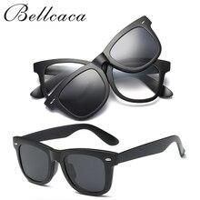 TR90 Spectacle Frame Eyeglasses Men Women With Polarized Clip On Lens Sunglasses Magnetic Adsorbent For Male Eye Glasses BC128