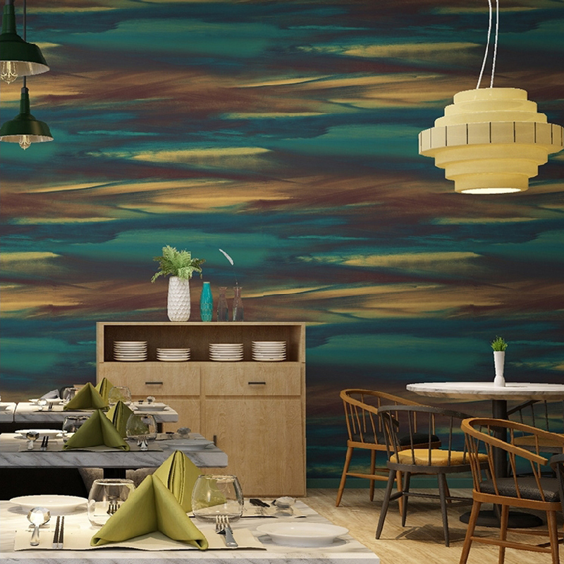 Купить с кэшбэком Modern Abstract Wall papers Home Decor Personalized Wave Color Wall Paper Roll for Background Walls vinilos pared contact paper
