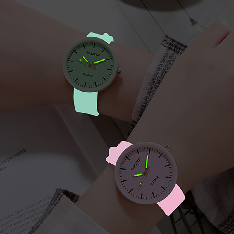 Luminous Kids Watches Girls Creative Romantic Jelly Gifts Reloj Cute Silicone Band Unisex 2019 New Fahion Students Montre Enfant