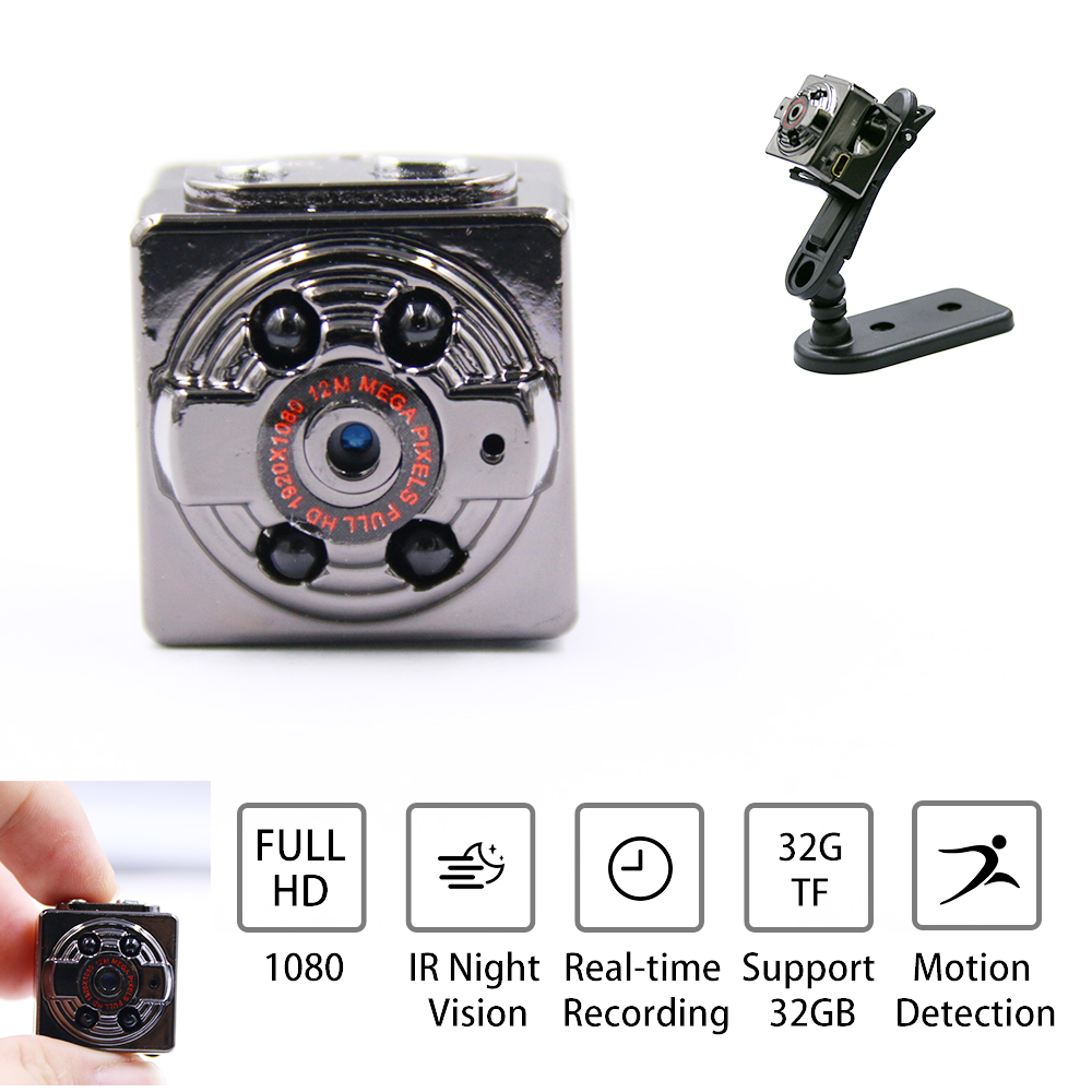 Mini Camera SQ8 Mini DV Camera 1080P Full HD Car DVR Recorder Motion Wireless Aluminum Video Camera