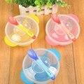 1 conjunto conjunto pratos prato de sucção cup auxiliar de aprendizagem da criança do bebê tigela de comida prato colher sensoriamento crianças talheres tigela coberta