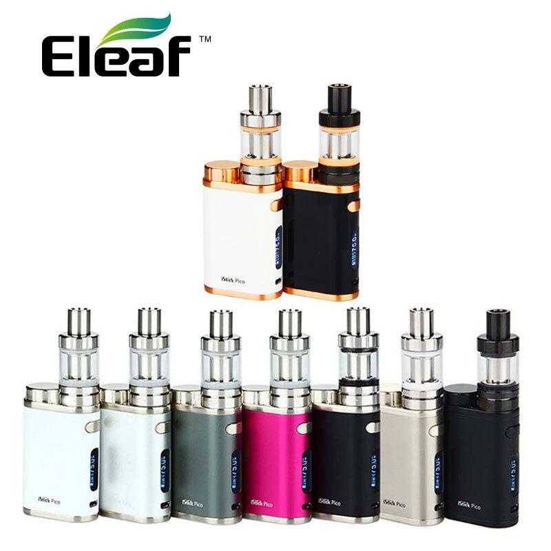 Оригинальный Eleaf iStick Пико Starter Kit w/2 мл MELO 3 мини танк и 75 Вт поле Mod и EC катушки электронной сигареты Vape поле Mod vs eleaf вызывать