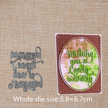 Wishing you a lovely birthday English Words metal Cutting Dies for DIY Handmade Scrapbook 88*67 mm