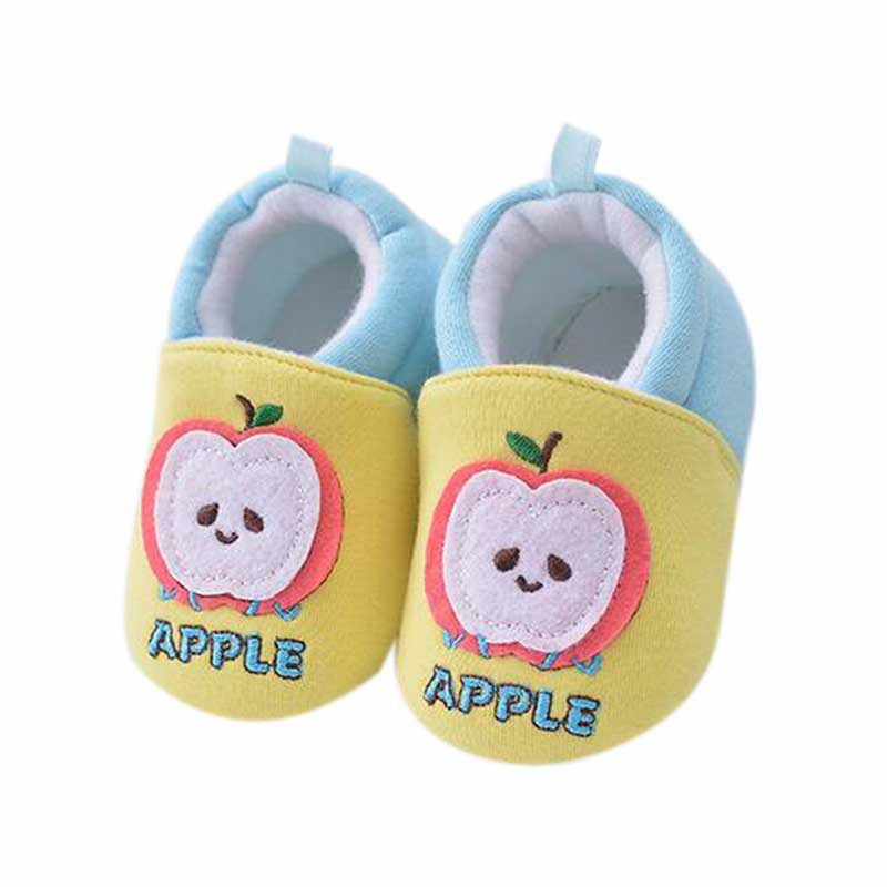 Fruit Pattern Sneakers Cotton Baby Boys Girls Infant Shoes Slippers New Style Cartoon First Walkers Cotton Kids Shoes 3-12M
