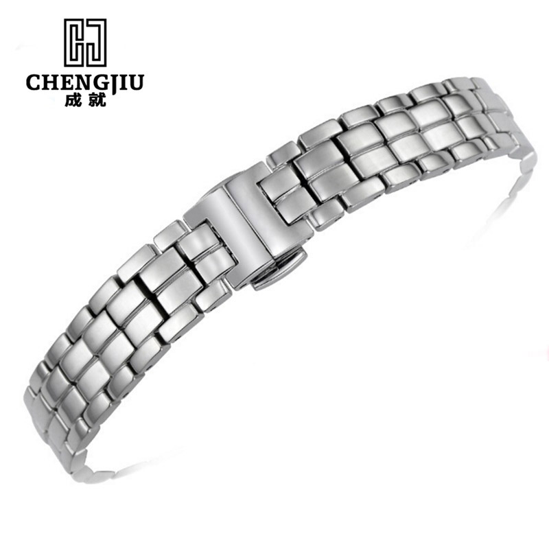 Stainless Steel Watchband For Tissot 1853 T094 /Mido Watch Strap Band 12MM Watch Band Watch Strap For Women Bracelet For Watches neway 12mm ceramic c 316l stainless steel watchband convex interface women watch strap small wristwatches band belt bracele