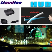 Liandlee hud para carro universal digital velocímetro obd2 cabeça up display grande monitor de corrida hud