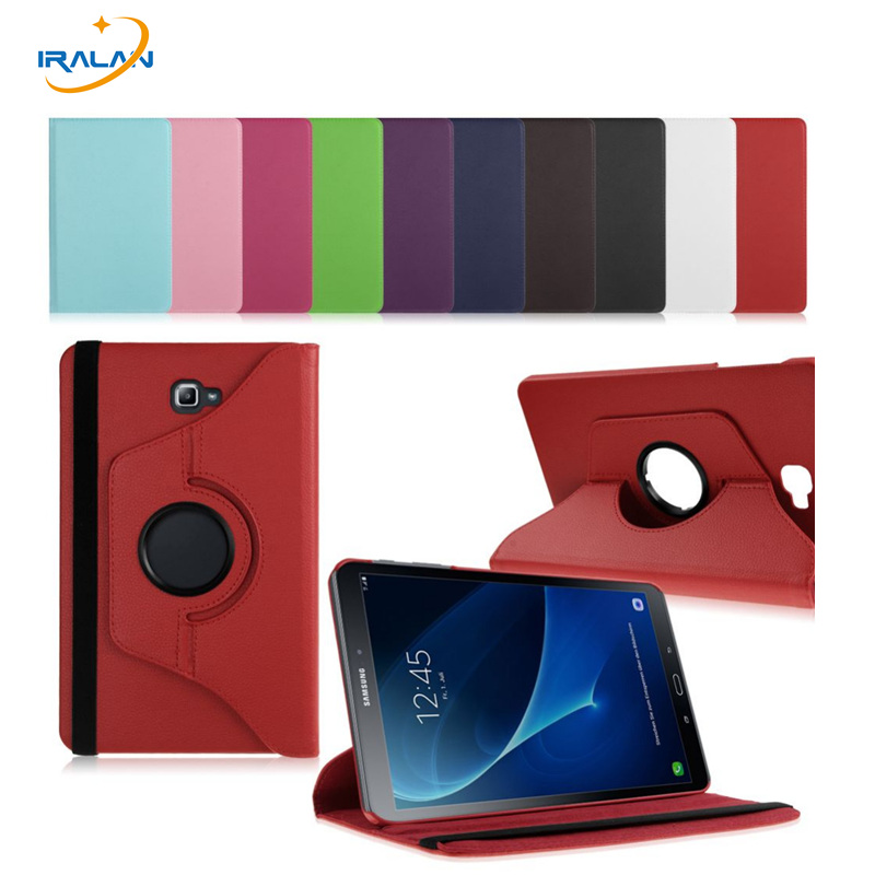 New 360 Rotating PU Leather Stand Case Cover For Samsung Galaxy Tab A 10.1 2016 T580 T585 Tablet Funda Cases+stylus free gifts luxury flip stand case for samsung galaxy tab 3 10 1 p5200 p5210 p5220 tablet 10 1 inch pu leather protective cover for tab3