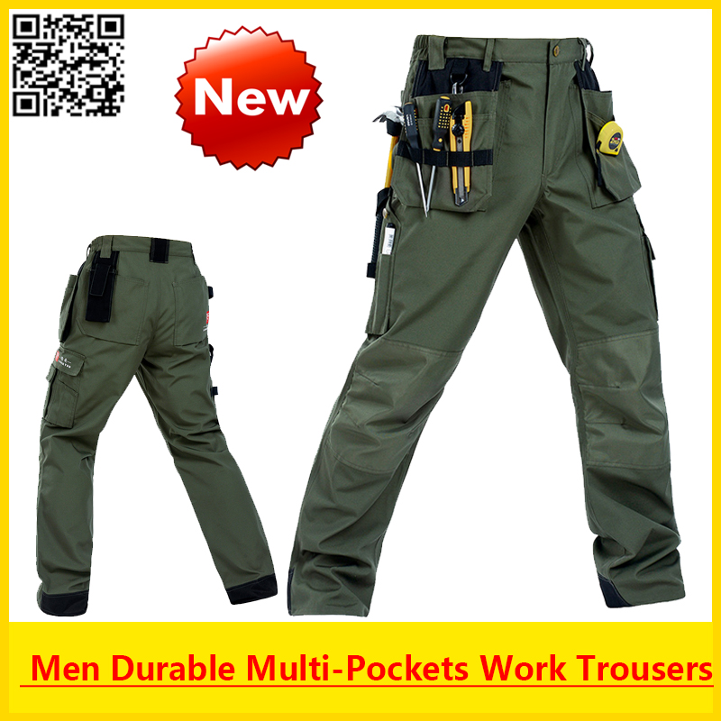 Bauskydd High Quality Working Men Durable multi-pockets working pant outdoor cargo pant with removable pockets free shipping floral print multi pockets zipper fly cargo shorts
