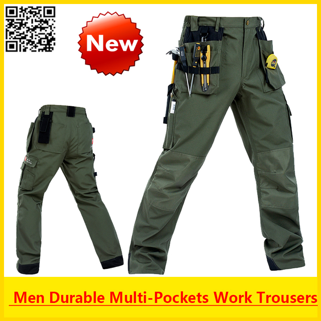 High Quality Working Men Durable multi-pockets working pant outdoor  cargo pant with removable pockets free shipping