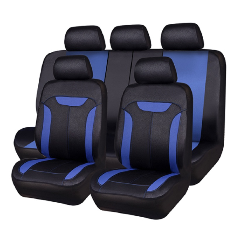 Autostoelhoezen aritifical lederen mesh stof zwart rood grijs blauw - Auto-interieur accessoires - Foto 4