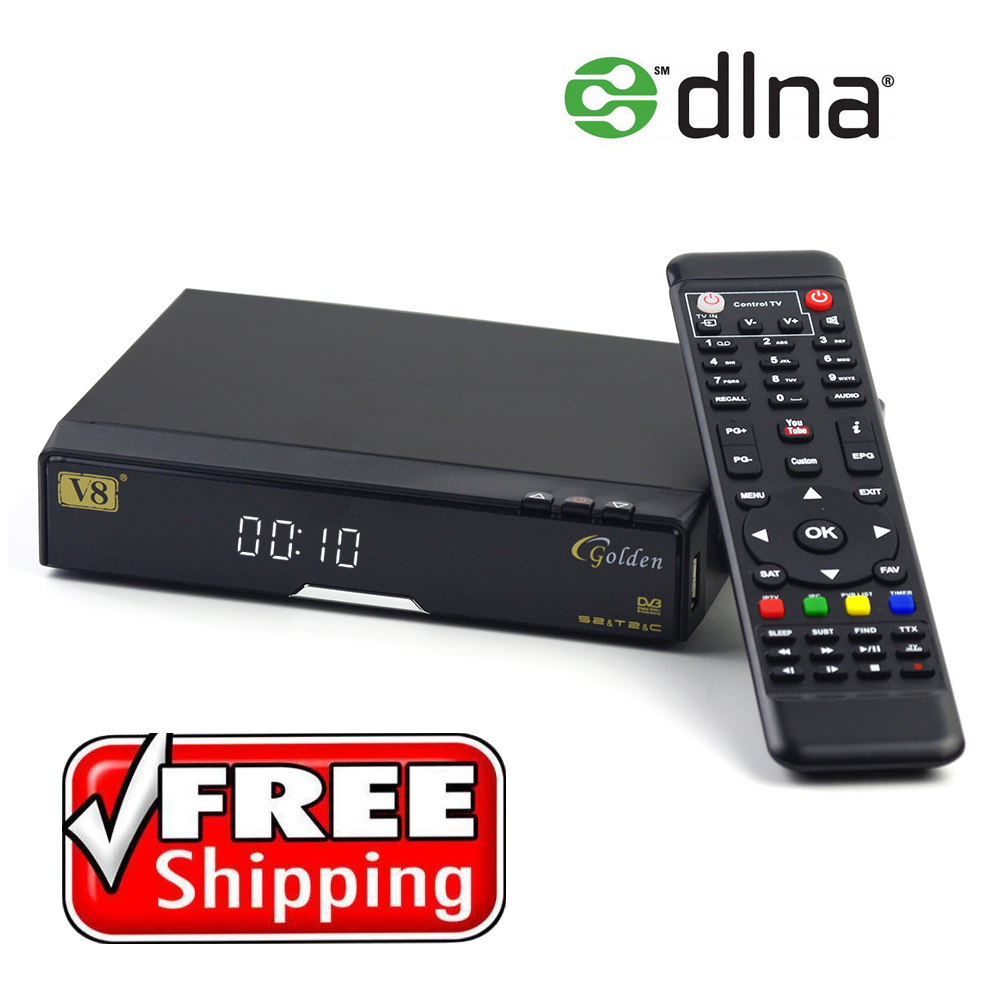 Freesat V8 Satellite receiver Digital DVB T2+S2+C TV Tuner Receptor MPEG4 DVB-T2 TV Receiver V8 Golden Support Cccam Set Top Box freesat v7 combo wifi support dvb t2 s2 brand new satellite receiver twin tuner dvb s2 dvb t2 support cccam newcam free shipping