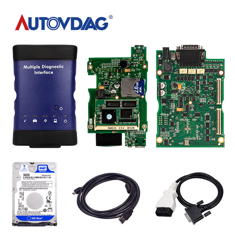 V2019.7 New for GM MDI Multiple Diagnostic Interface tool <font><b>HDD</b></font> WIFI Multi-Language Scanner Electrical Testers /Test Leads image