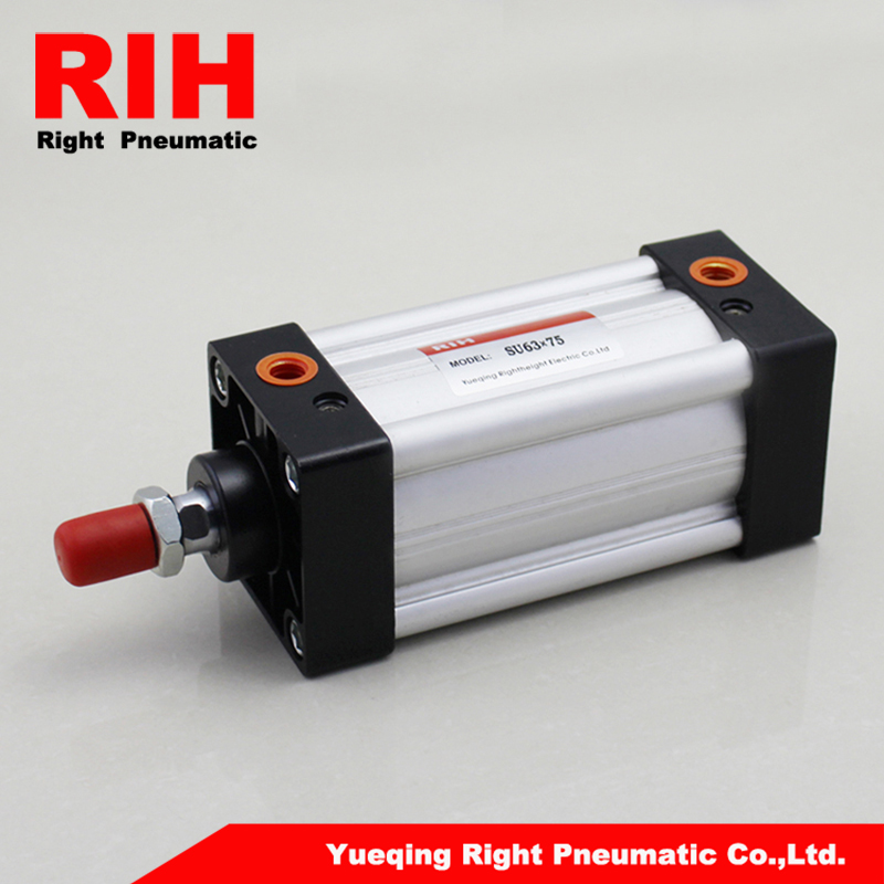 SU63*75 mi air cylinders with 63mm bore and 75mm stroke /SU63-75 single rod double acting mi pneumatic cylinder mgpm63 200 smc thin three axis cylinder with rod air cylinder pneumatic air tools mgpm series mgpm 63 200 63 200 63x200 model
