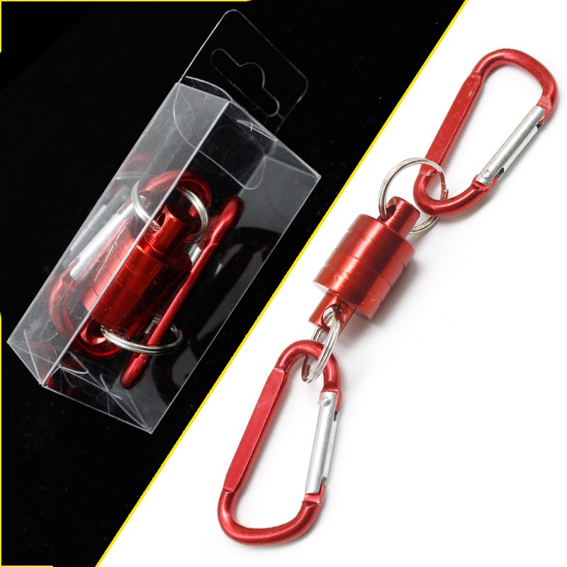 1 PCS Fishing Buckle Multifunctional Magnetic Net Release Fly Fishing Strong Train Net Holder Lanyard Cable Pull Max 4KG in Fishing Tools from Sports Entertainment