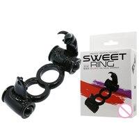 BAILE masculino juguete de La Novedad más duradero anillo pene anillo vibrante del sexo vibrador doble cock juguetes atractivos, juguetes del sexo para los hombres/pareja