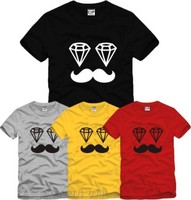 Summer New Male Female Europe Tide T Shirt Brand Beard Street Hip Hop T Shirts Mens