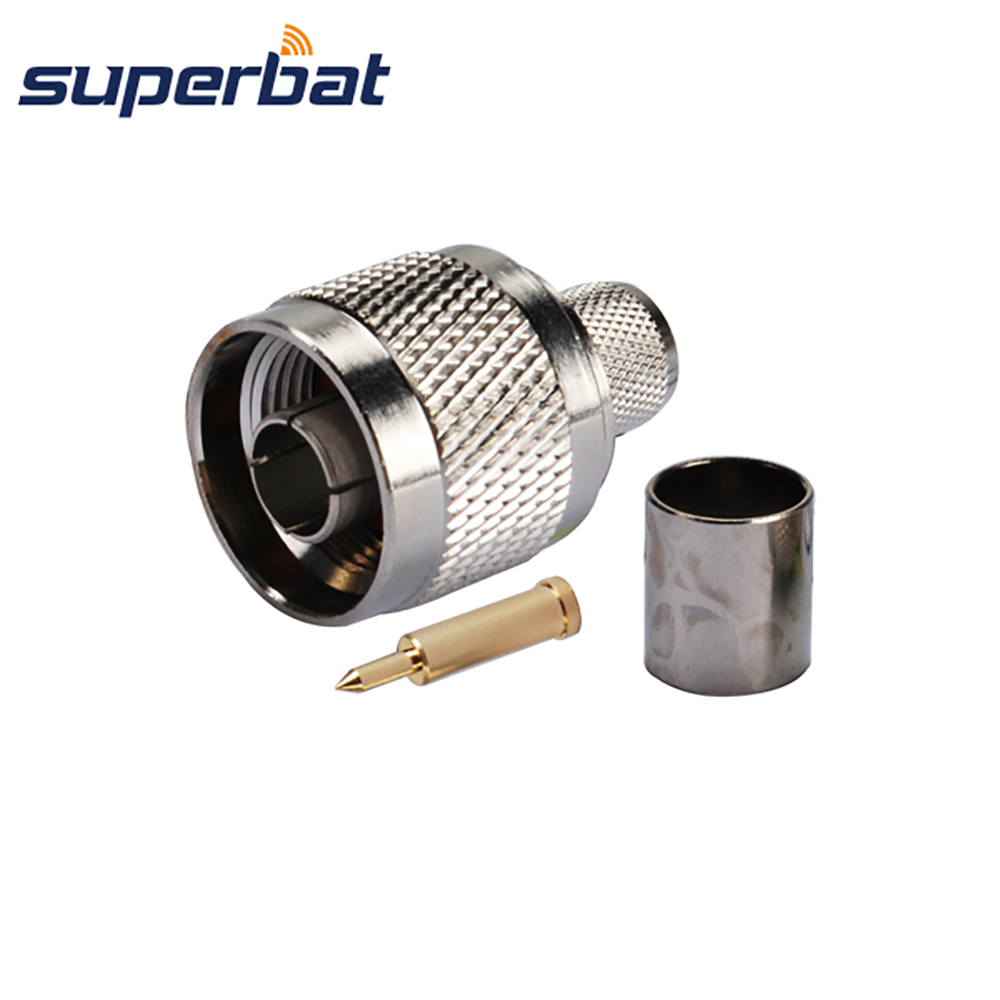Superbat RF Coaxial Connector N Crimp Plug Male Straight For Cable LMR400 RG8 RG213 RG214