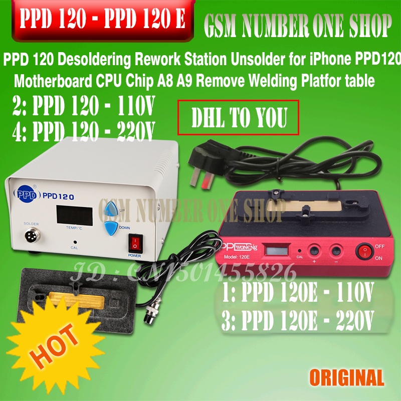 PPD 120e Desoldering Rework Station Unsolder For IPhone PPD 120 Motherboard CPU Chip For A8/A9 Remove Welding Platfor Table Tool