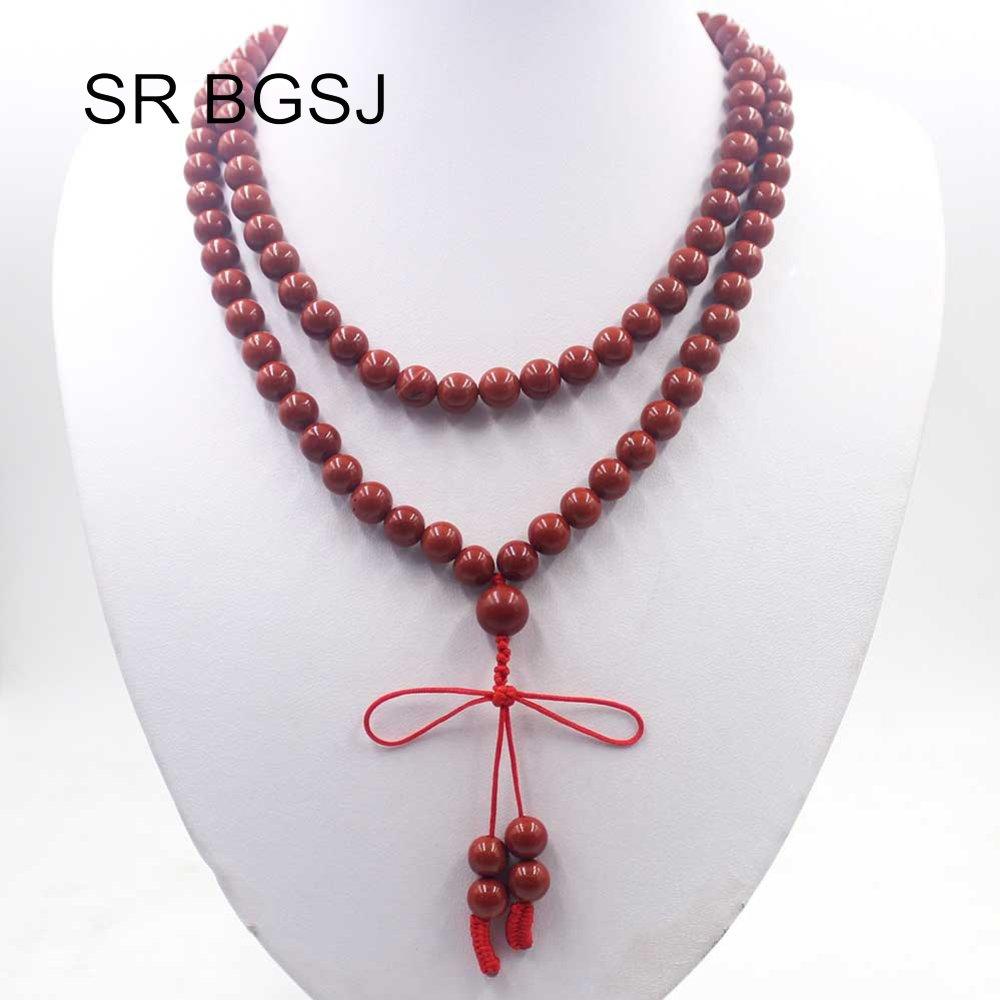 ★  Многоцелевой 8 мм Драгоценный Камень Буддистский 108 Молитва Мала Йога Женщины Длинное Ожерелье Свит ✔
