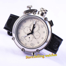 Fashion Parnis Mechanial 50mm Big Face white dial automatic Men's watch(China)